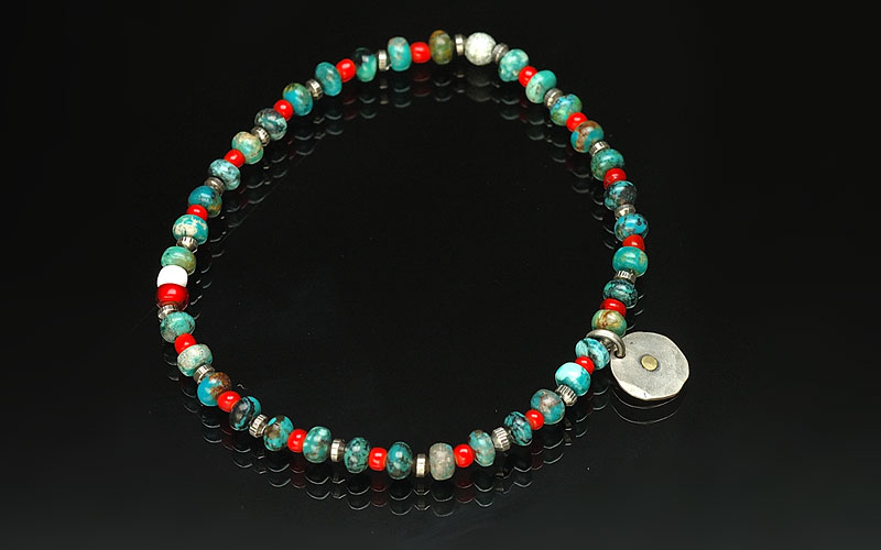 on the sunny side of the street 310-106 turquoise x red