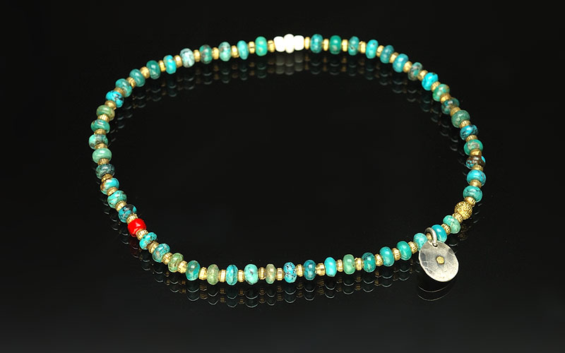 on the sunny side of the street 310-107 turquoise x brass
