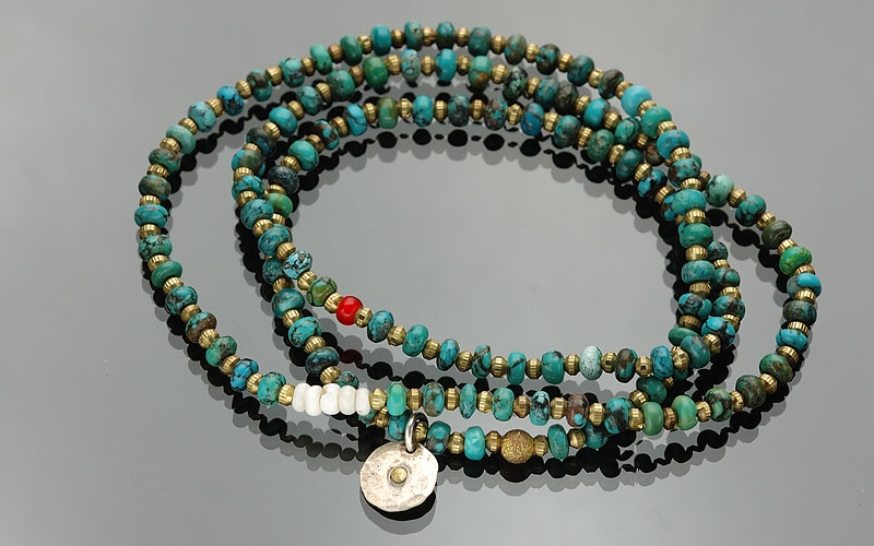on the sunny side of the street 310-108 turquoise x brass