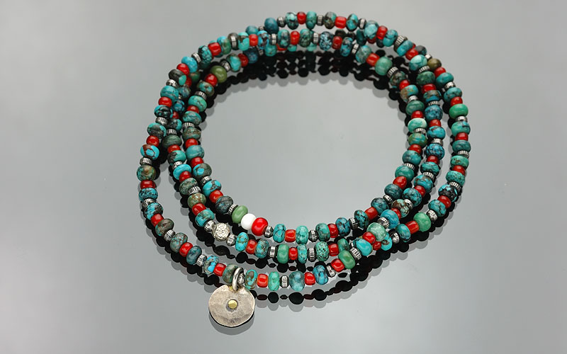 on the sunny side of the street 310-108 turquoise x red
