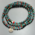 on the sunny side of the street ブレスレット 310-108 turquoise x red