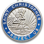 St.Christopher セント クリストファー ラージ silver-royalblue pair