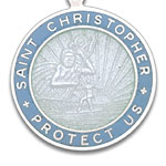 St.Christopher セント クリストファー ラージ white-atlanticblue pair