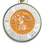 St.Christopher セント クリストファー ブレスレット apricot white