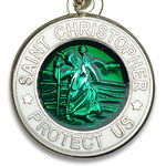 St.Christopher セント クリストファー ブレスレット kellygreen white