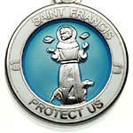 St.Christopher セント クリストファー セントフランシス ペット メダル St.Francis turquoise-white